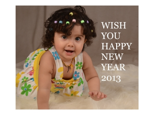 cute baby and new year wishes